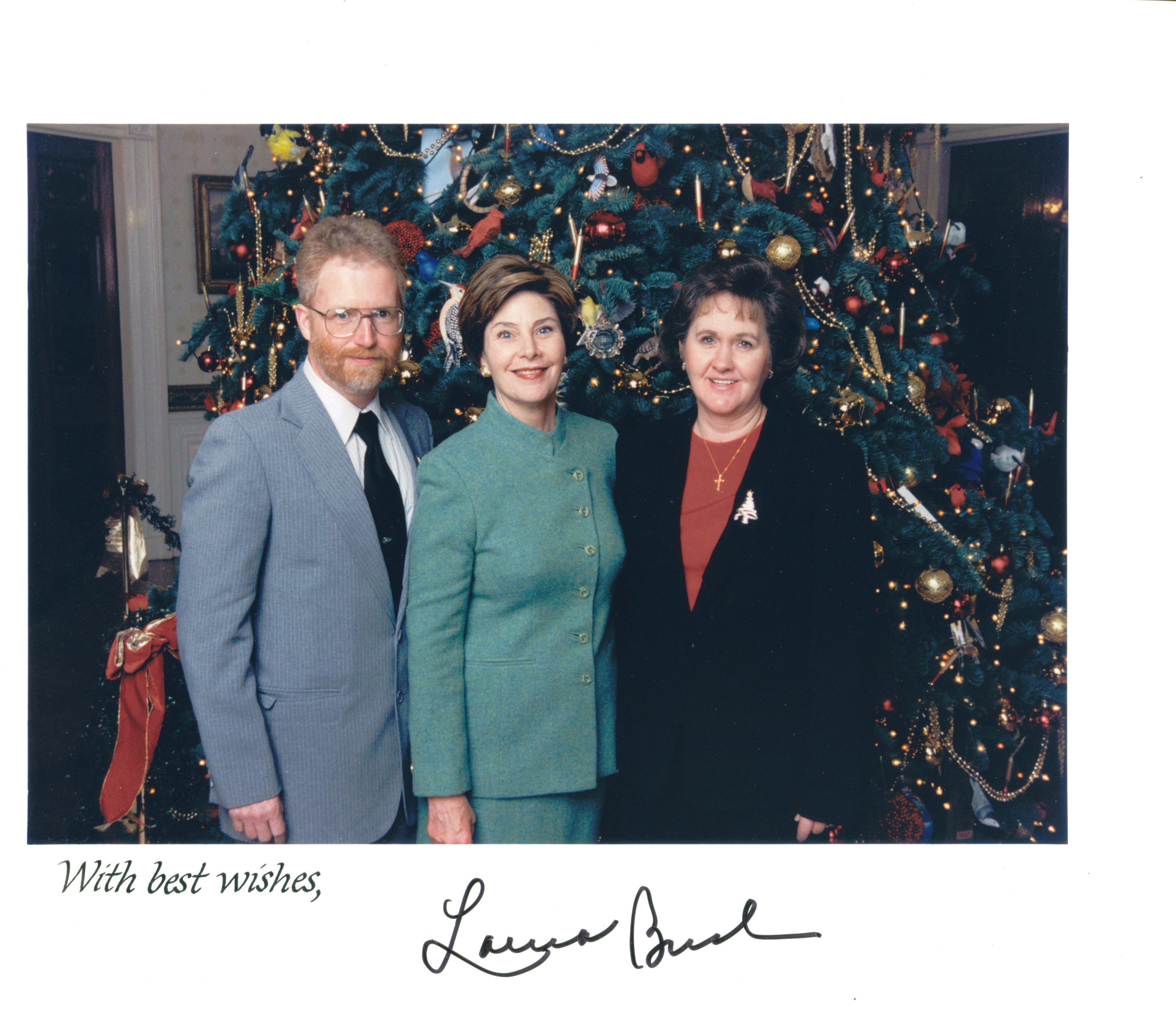 Tim Hall with First Lady Laura Bush